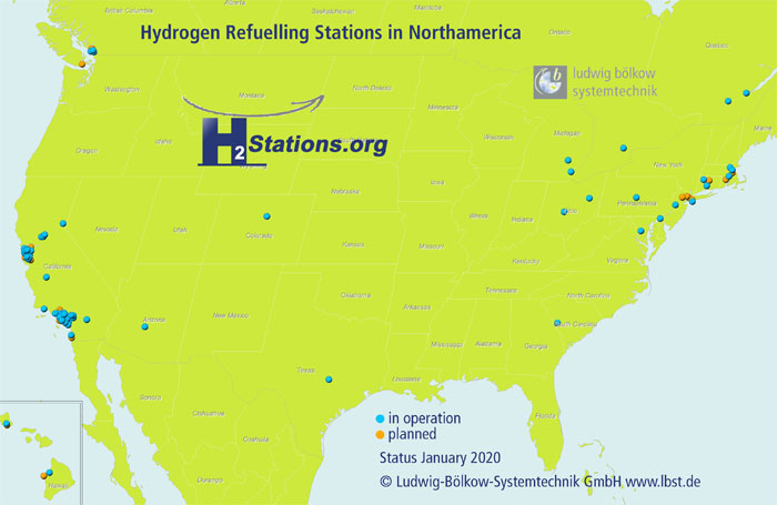 Hydrogen Refueling Stations in North America