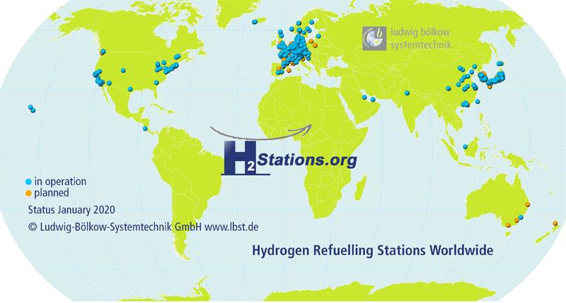 Hydrogen Refueling Stations Worldwide